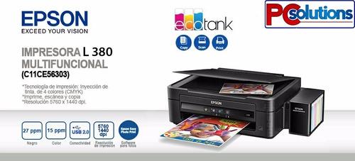impresora epson l380 sistema original de tinta
