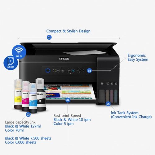 impresora epson l4150 sistema de tinta original +wifi+tintas