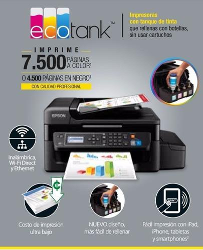 impresora epson l575 tinta continua imprime/copia/escanea
