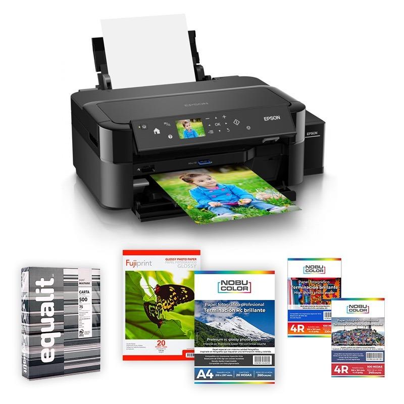 Impresora Epson L810 + Papeles Fotográficos + Resma Equalit