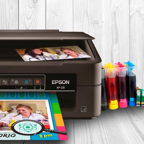 impresora epson multifuncional xp 211 + sistema continuo scp
