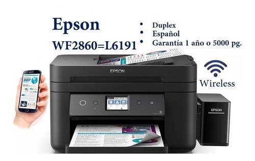 impresora epson wf 2860 mejor wf 2750 wifi l6191