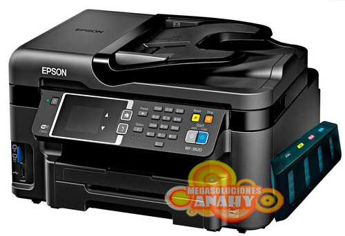 impresora epson workforce 3620 multif +sistema tinta, duplex