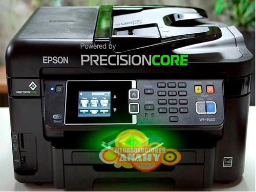 impresora epson workforce 3620 +sistema tinta, incluye iva