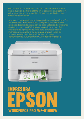 impresora epson workforce pro wf-5190dw