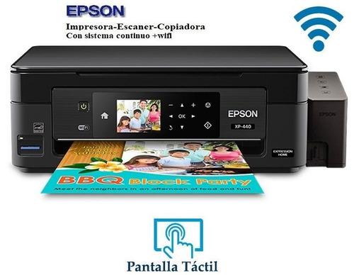 impresora epson xp440 con sistema de tinta tipo original