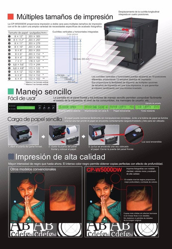 impresora  fotog. mitsubishi w5000 hasta 20x30 doble faz