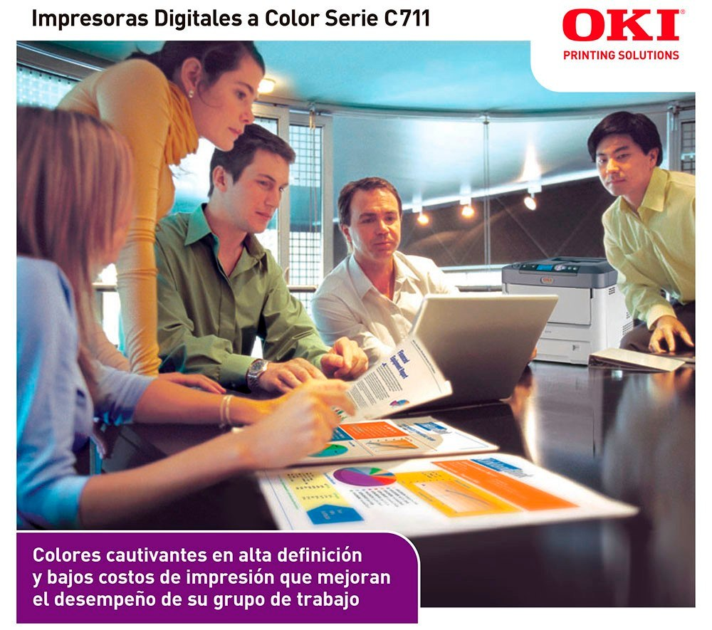 Impresora Full Color A4 / Oficio Con Duplex Oki C711dn - $ 48.692,16 ...