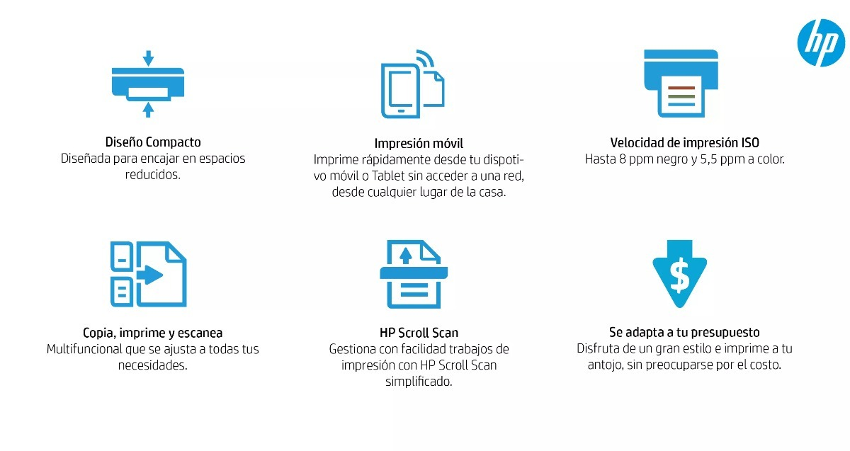 Impresora Hp 3775 Wifi Multifuncional Mas Pequeña Del Mundo ...