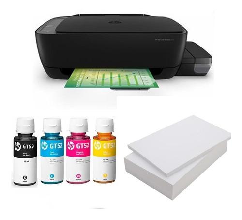 impresora hp 410 wifi + tintas gt52 color y gt53 negra + res