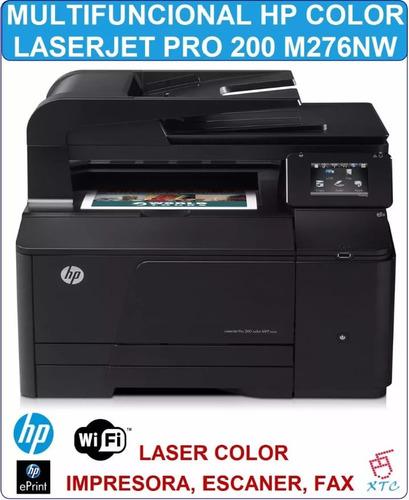 impresora hp laser multifuncional pro 200 color m276nw mfp