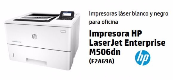 Resultado de imagen para LaserJet Enterprise M506dn