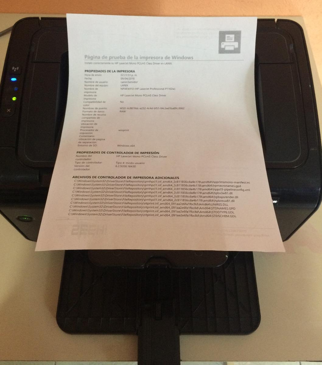 como descargar driver de impresora hp laserjet p1102w