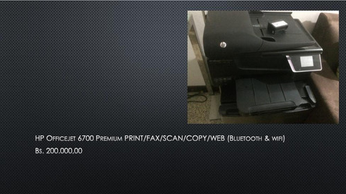 impresora hp officejet 6700 multifuncional bluetooth/wifi
