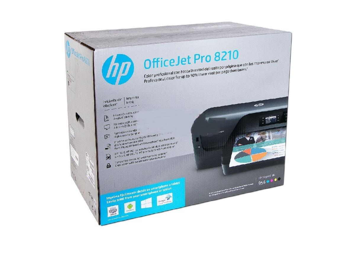 Impresora Inyección De Tinta Color Hp Officejet Pro 8210 ...