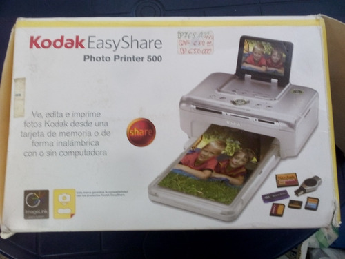 impresora kodak easy share photo printer 500