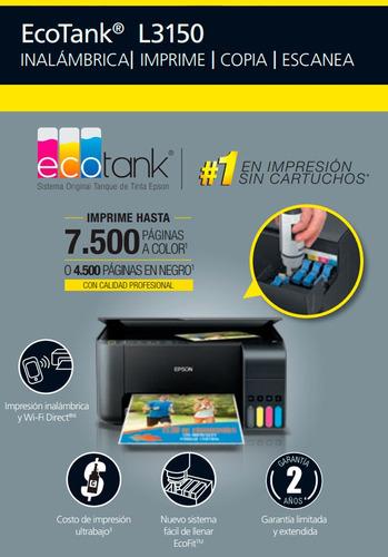 impresora l3150 epson +sistema original+ wifi multifun+ obsq