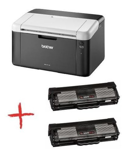 impresora laser brother hl 1212w wifi + 2 toner ctas