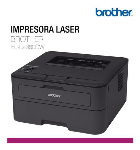 impresora laser brother hl-l2360dw blanco y negro pce rt