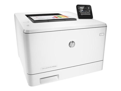 impresora laser color hp m452dw duplex red