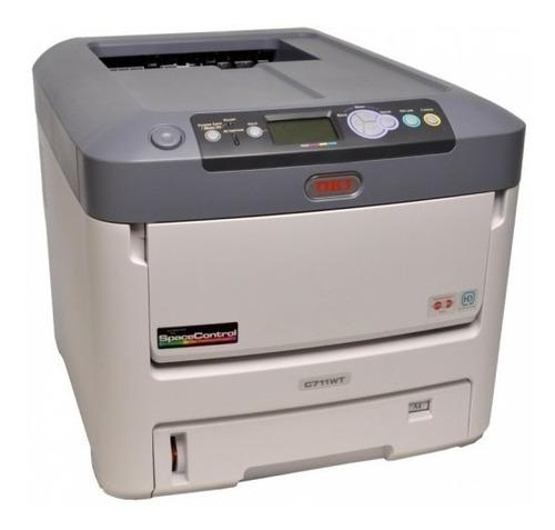 impresora láser color tóner blanco oki c711wt+25transf