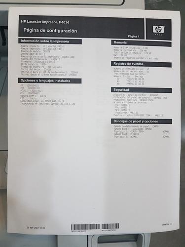 impresora laser hp p4014 usada