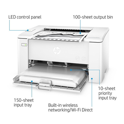 impresora laser monocromatica hp m102w wifi + iva incluido