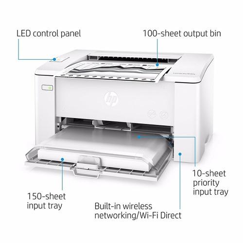 impresora laser negro jet pro hp m 102w. en caja. mundoe z/n