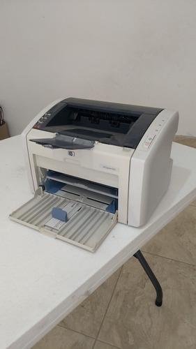 impresora laserjethp 1022, usado, cartucho nuevo toner negro