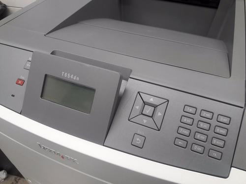 impresora lexmark  t 654dn impecable con toner $ 7000