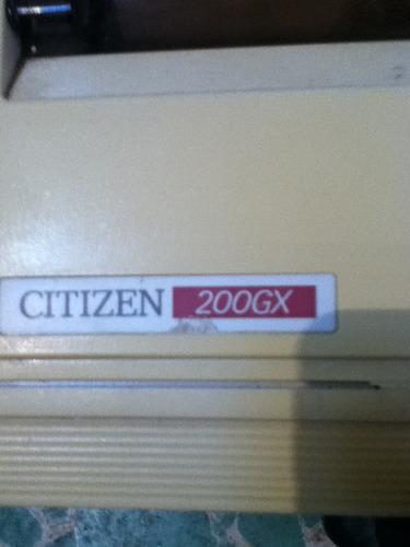 impresora matriz de puntos citizen 200 gx funcionando