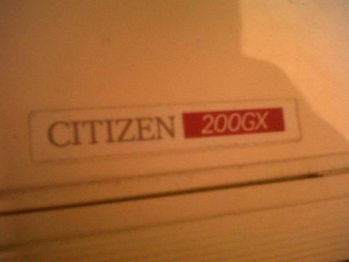 impresora matriz de puntos citizen 200gx