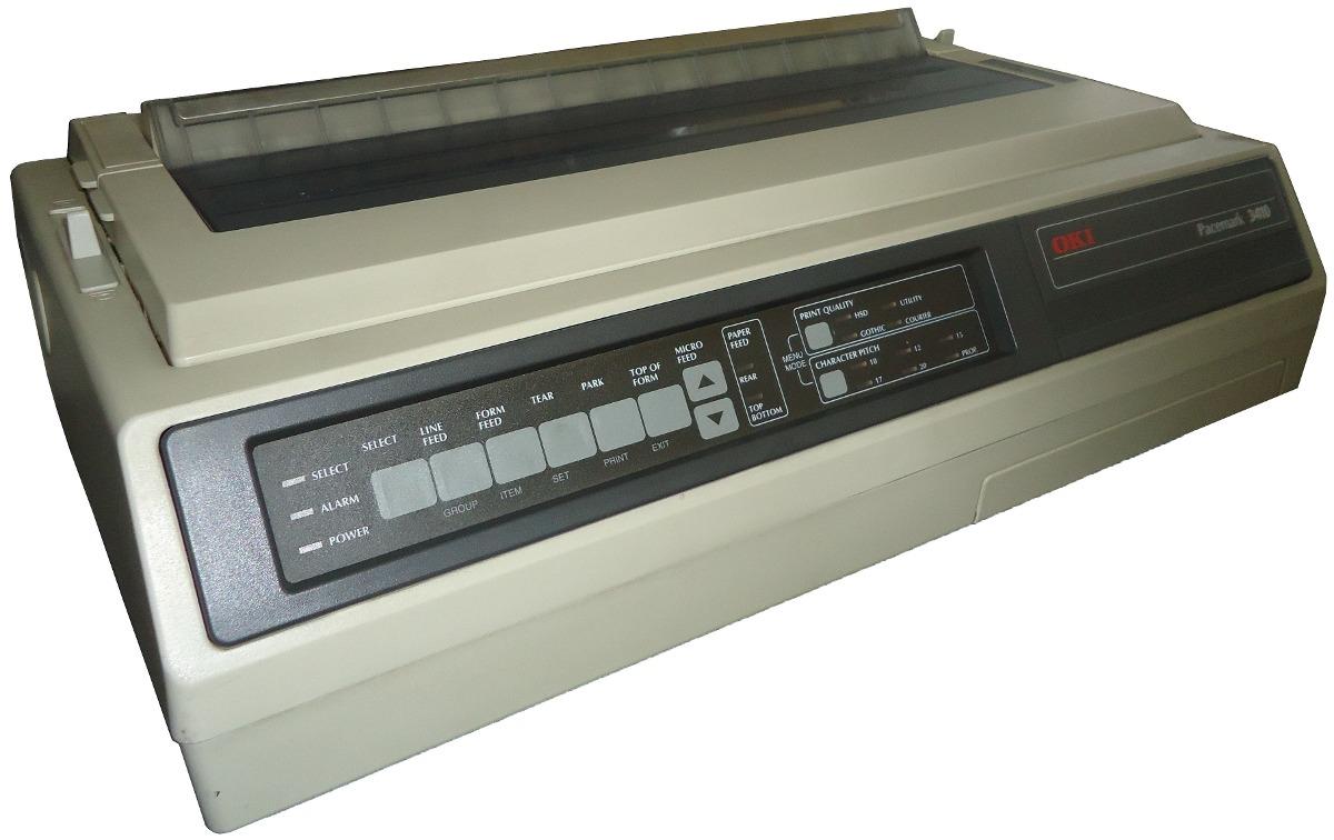Impresora Matriz De Puntos Oki Pacemark 3410 De 9 Pines