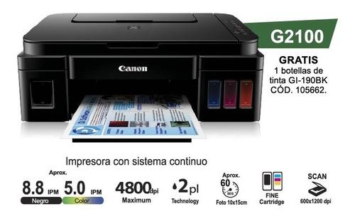 impresora multifunción canon g2100 sistema continuo 4 tintas
