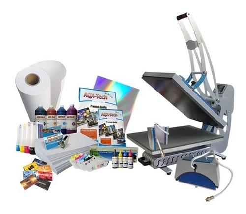 impresora multifuncion epson l3150 wifi ecotank + tinta sublimacion aqx premium 400ml + papel