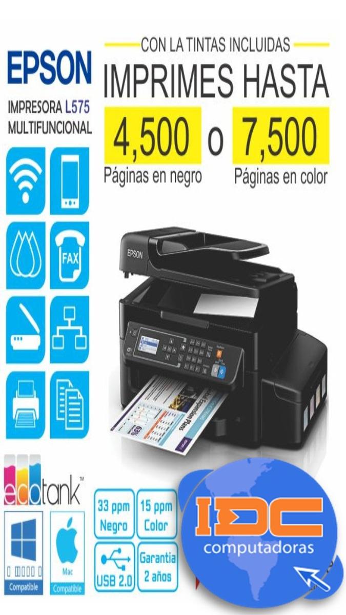 descargar gratis driver de impresora epson l575