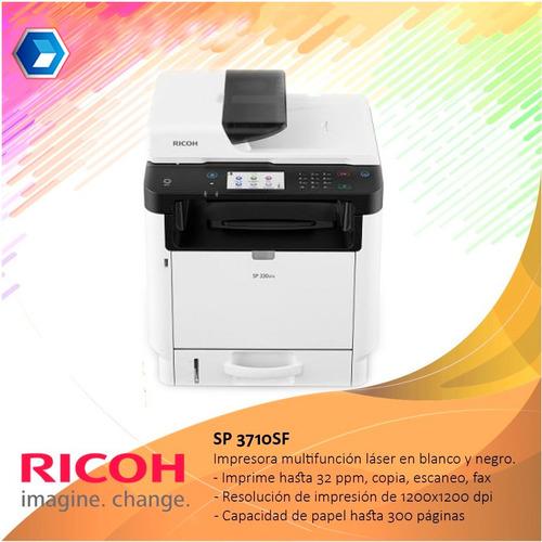 impresora multifuncion ricoh sp 3710sf nueva (ex sp-377)