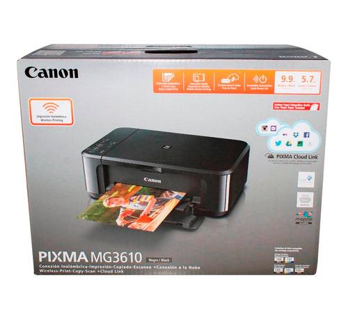 Impresora Multifuncional Canon Pixma Mg3610 Wifi Air Print
