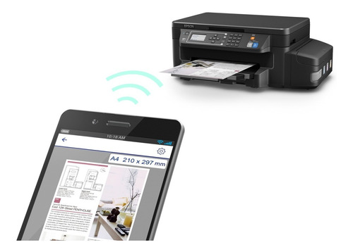 impresora multifuncional epson ecotank l606 negra