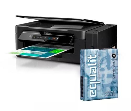 impresora multifuncional epson l395 + resma carta