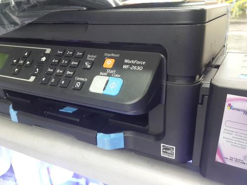 impresora multifuncional epson wf 2630 con sistema tipo orig