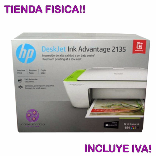 impresora multifuncional hp 2135 ink advantage 3en1 tienda!!