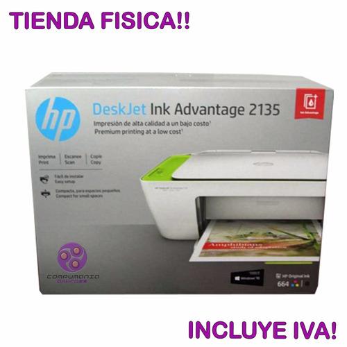 impresora multifuncional hp 2135 + sistema tinta continua pr
