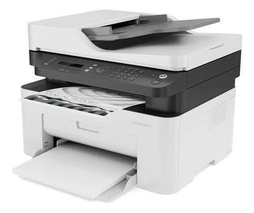 impresora multifuncional hp laser m137fnw monocromática 4zb8