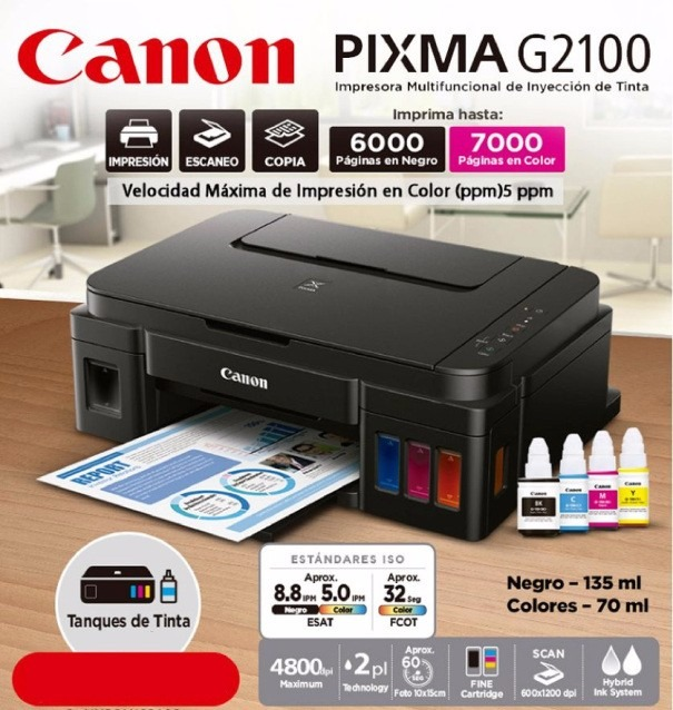 Impresora Multifuncional De Tinta Continua Canon Pixma