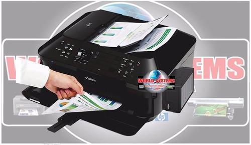impresora para cd canon mx 922 sistema de tinta wifi - fotos