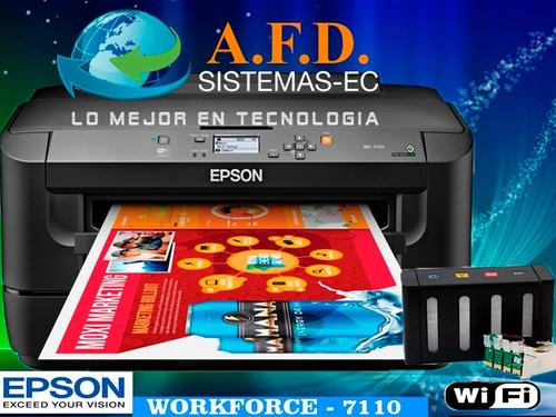 impresora para sublimación a3 - a4 epson wf 7110 wifi