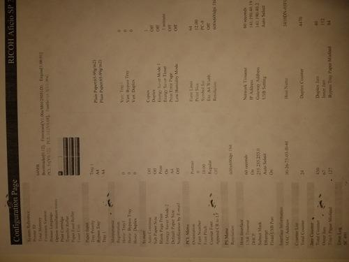 impresora ricoh aficio sp3410dn