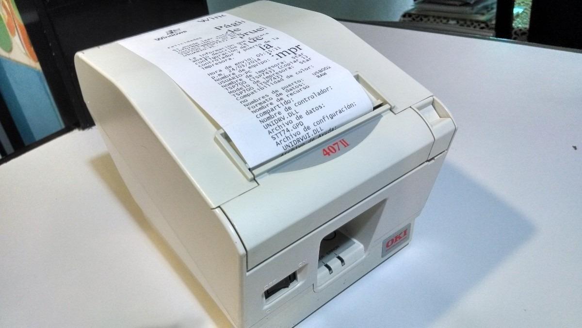 Impresora Termica Okipos 407ii Conectala Por Usb La