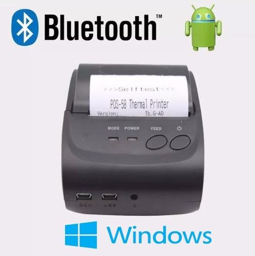 Impresora Termica Portatil Bluetooth 58mm Pos Miniprinter